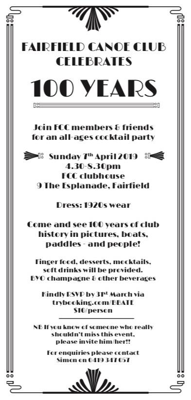 Centenary invite